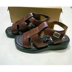 Giày sandal đế cao nam dép quai hậu dành cho người trung tuổi