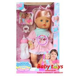 Búp bê Baby Doll: Dùng pin, biết nói, bú bình, đi vệ sinh