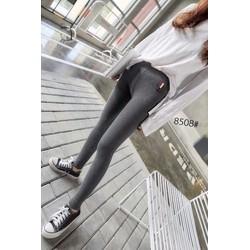 quần leggings nỉ lông nhung khuy túi sau