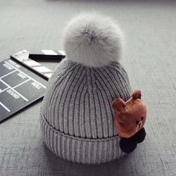 Mũ len gấu cho bé