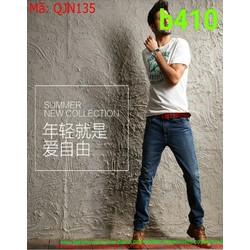 Quần jean nam xanh đậm phom đứng cá tính thời trang QJN135