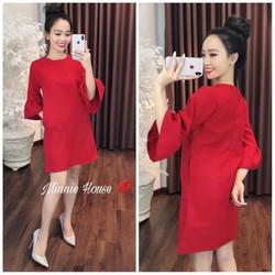 Đầm suông đỏ đón tết