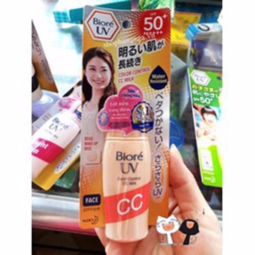 kem chống nắng biore cc