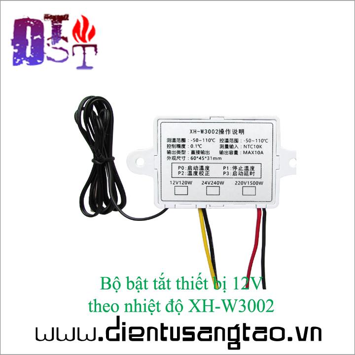 Bộ bật tắt thiết bị 12V  theo nhiệt độ XH-W3002 4