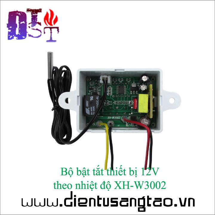 Bộ bật tắt thiết bị 12V  theo nhiệt độ XH-W3002 5