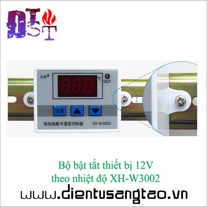 Bộ bật tắt thiết bị 12V  theo nhiệt độ XH-W3002 6