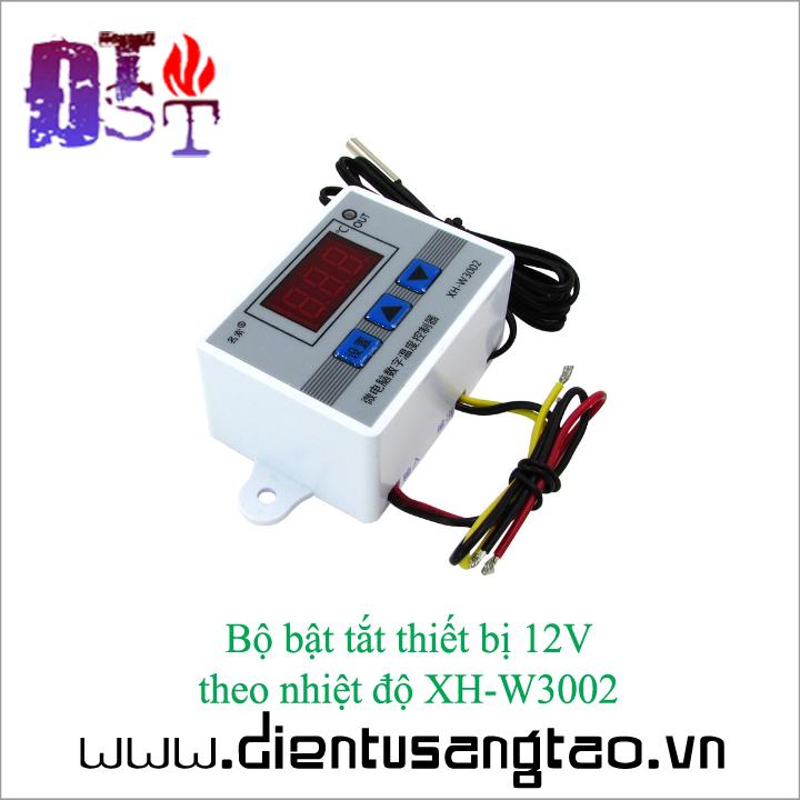 Bộ bật tắt thiết bị 12V  theo nhiệt độ XH-W3002 3