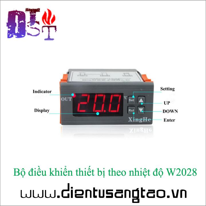 Bộ điều khiển thiết bị theo nhiệt độ W2028 12V 1