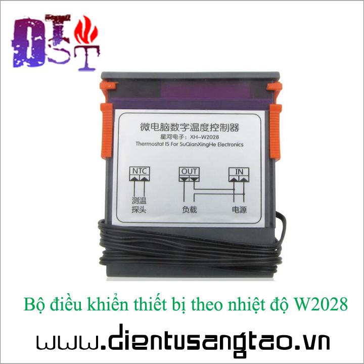 Bộ điều khiển thiết bị theo nhiệt độ W2028 12V 5