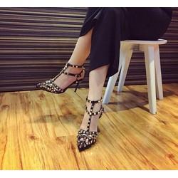 Giày cao gót đinh tán cao cấp đế 7cm