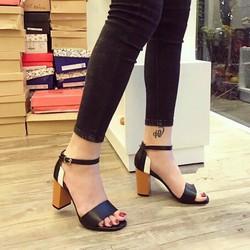 Giày cao gót đế vuông sành điệu