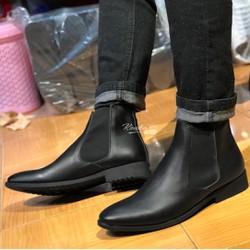 Giày chelsea boot da bò cao cổ thời trang 2018