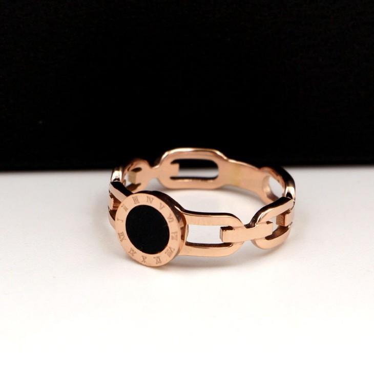 Nhẫn Titan Mặt Tròn Đen Cao Cấp TT 0902 3