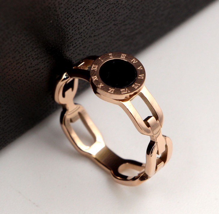 Nhẫn Titan Mặt Tròn Đen Cao Cấp TT 0902 2