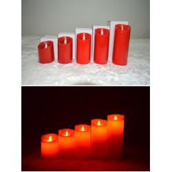 1 hộp 3 cây nến điện tử đỏ