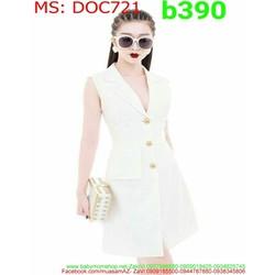 Đầm ôm body công sở thiết kế dạng vest thanh lịch duyên dáng DOC721