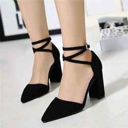 giày cao gót quai chéo nữ