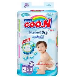 Bỉm Goon Slim dán size XL50