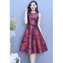 Đầm Xòe Gấm Cao Cấp