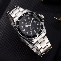 Đồng hồ toạ độ dây inox, kiểu quân đội , size nhỏ GO-01 black
