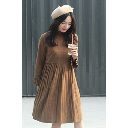 Đầm vải da dày đẹp chất lượng
