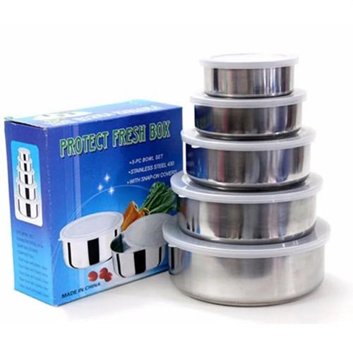 Bộ 5 hộp đựng thực phẩm inox có nắp - 4202958 , 10365293 , 15_10365293 , 99000 , Bo-5-hop-dung-thuc-pham-inox-co-nap-15_10365293 , sendo.vn , Bộ 5 hộp đựng thực phẩm inox có nắp