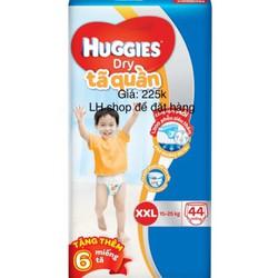 Tã quần Huggies XXL44 + 6 miếng