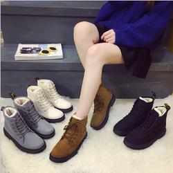 Giày boot nữ da lộn gót vuông cổ trung cá tính mới nhất 2019