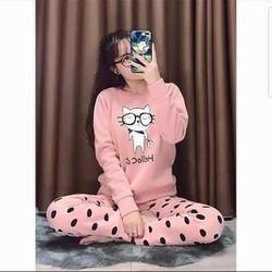 Đồ bộ mặc nhà hình mèo siêu Cute