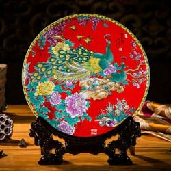 tranh đĩa để bàn gốm sứ cao cấp