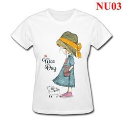 Áo thun nữ form rộng Nice Day NU03 - Nhiều màu