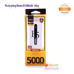 Pin sạc dự phòng Remax E5 5000mAh chính hãng màu trắng
