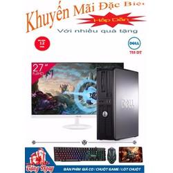 Máy tính văn phòng Dell 755 DT Core 2 Duo, Ram 4GB, HDD 320GB