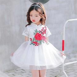 Đầm trung hoa bé gái 2- 6 tuổi