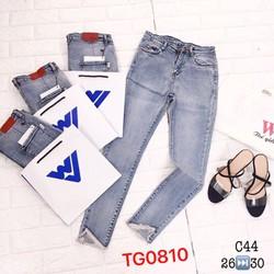 quần jeans nữ rách lai siêu chất