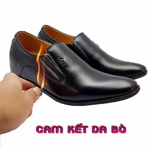 giày tây tăng chiều cao 6,5cm da bò