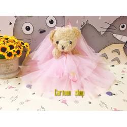 Gấu bông cô dâu dễ thương 20cm - Quà tặng noel