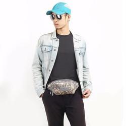 Túi đeo hông đi phượt vải bố