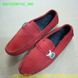 Giày mọi nam da nhung khóa ngang tinh tế GDM142