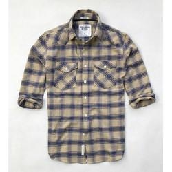 áo sơ mi nam kiểu 2 túi sọc ngang giá sỉ xuất khẩu