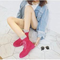 Giày boot da lộn full màu