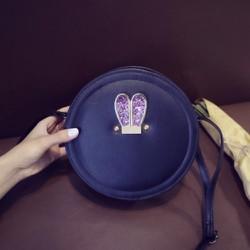Túi dáng tròn trống 2 màu thời trang