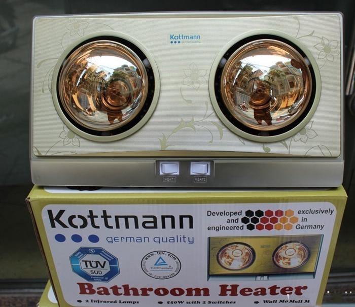 Đèn sưởi nhà tắm Kottmanns 2 bóng cao cấp-0965.011.567 5