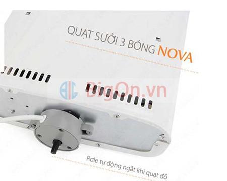 Quạt sưởi Nova 3 bóng đèn sưởi gia nhiệt-0965.011.567 10