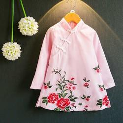 Đầm trung hoa bé gái 3- 7 tuổi