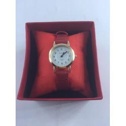 Đồng hồ dây da mặt tròn thời trang - 05