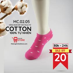 Tất nữ cổ trung chất liệu cotton MC.02.05