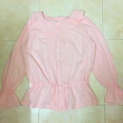 Thanh ly áo xô peplum hồng