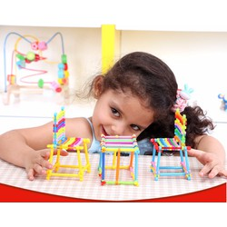 Bộ đồ chơi ghép hình que cho bé sáng tạo nên thế giới của riêng mình