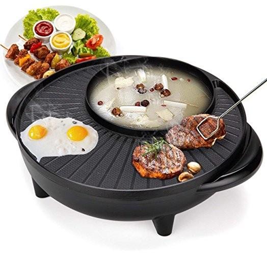 Bếp lẩu nướng điện 2 trong 1 đa năng 1